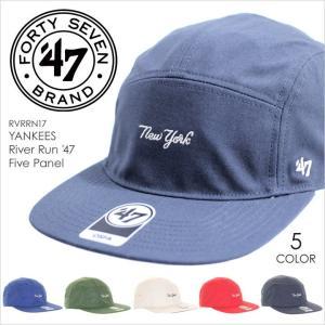 キャップ 47 Brand RIVER RUN '47 FIVE PANEL - RVRRN17 フォーティセブン ジェット キャンプ キャンバス メンズ レディース ストリート MLB 野球 2017 春夏 新|3direct