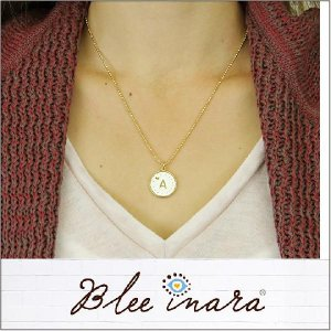 BLEE INARA / ブリーイナラ イニシャル ネックレス ENAMEL LETTER CHAIN NECKLACE (WHT)|3direct