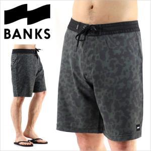 サーフパンツ メンズ BANKS HARVEST BOARDSHORT - BS0075 バンクス サーフ ストリート ショーツ ハーフパンツ スイムウェア ロゴ シンプル グリーン 柄 短パン|3direct