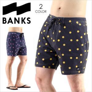 サーフパンツ メンズ BANKS SUNSHINE BOARDSHORT - BS0079 バンクス サーフ ストリート ショーツ ハーフパンツ スイムウェア ドット 柄 ロゴ シンプル 短パン 膝|3direct