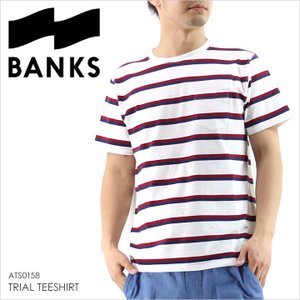 Tシャツ メンズ BANKS TRIAL TEESHIRT - ATS0158 BANKS journal バンクス サーフ シンプル ポケット ボーダー レッド ネイビー 柄 17 2017 通販 半袖 春 新作|3direct