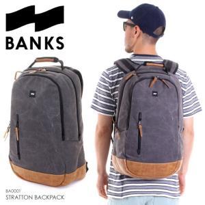 BANKS バッグ メンズ STRATTON BACKPACK BA0001 2018夏 ブラック 25L|3direct