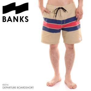 BANKS サーフパンツ メンズ DEPARTURE BOARDSHORT BS0116 2018夏 ベージュ 32/34|3direct