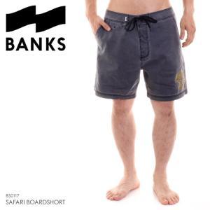 BANKS サーフパンツ メンズ SAFARI BOARDSHORT BS0117 2018夏 ブラック 32|3direct