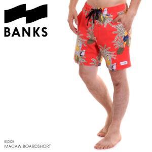 BANKS サーフパンツ メンズ MACAW BOARDSHORT BS0121 2018夏 レッド 32/34|3direct