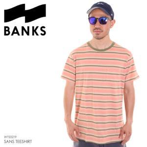 BANKS Tシャツ メンズ SANS TEESHIRT WTS0219 2018夏 ピンク S/M/L/XL|3direct