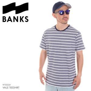 BANKS Tシャツ メンズ VALE TEESHIRT WTS0224 2018夏 ネイビー M/L/XL|3direct