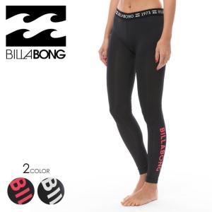 BILLABONG ラッシュレギンス レディース UV LEGGINGS AI013-400 2018春夏 ブラック/ホワイト M|3direct