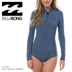 BILLABONG ウェットスーツ レディース SALTY DAYZ LS SPRING AI013-886 2018春夏 ブルー/マルチ M/L|3direct