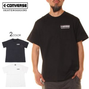 SALE セール CONVERSE SKATEBOARDING コンバース Tシャツ メンズ LOGO S/S POCKET TEE|3direct