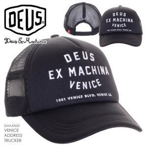 キャップ メンズ DEUS EX MACHINA VENICE ADDRESS TRUCKER - DMA47620 デウスエクスマキナ デウス 帽子 ロゴ シンプル レディース ユニセックス 2017 17 秋冬 F/|3direct