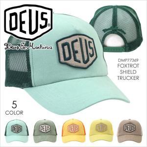 キャップ メンズ DEUS EX MACHINA FOXTROT SHIELD TRUCKER - DMP77369 デウスエクスマキナ デウス シンプル ロゴ サーフ ストリート トラッカー 帽子 レディース|3direct