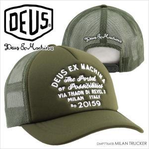 キャップ メンズ DEUS EX MACHINA MILAN TRUCKER - DMP77641B デウスエクスマキナ デウス アドレス トラッカー 帽子 ユニセックス 2017 17 春夏 S/S|3direct