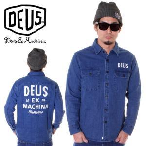 DEUS EX MACHINA デウスエクスマキナ デニムシャツ メンズ MAXWELL DENIM OVERSHIRT DMF85346|3direct