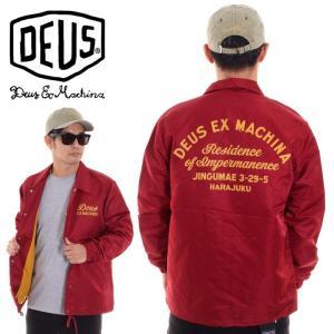 DEUS EX MACHINA デウスエクスマキナ コーチジャケット メンズ SUNNY IMPERMANENCE COACH DMF86294B|3direct