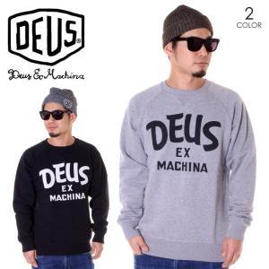 DEUS EX MACHINA デウスエクスマキナ スウェット メンズ CURVY CREW DMF88527B|3direct