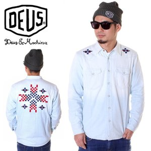 DEUS EX MACHINA デウスエクスマキナ シャツ メンズ CROSSHAIR WESTERN SHIRT JMF85423|3direct