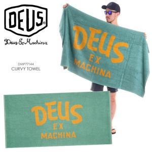 DEUS EX MACHINA タオル CURVY TOWEL DMP77144 2018春夏 グリーン|3direct