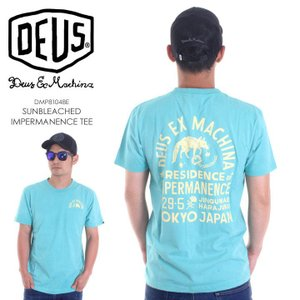 DEUS EX MACHINA Tシャツ メンズ SUNBLEACHED IMPERMANENCE TEE DMP81048E 2018春夏 ライトブルー S/M/L|3direct