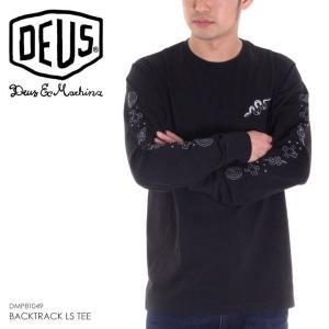 DEUS EX MACHINA ロンT メンズ BACKTRACK LS TEE 2018春 DMP81049B ブラック S/M/L|3direct