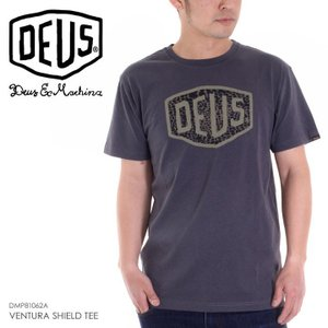 DEUS EX MACHINA Tシャツ メンズ VENTURA SHIELD TEE 2018春 DMP81062A ブラック S/M/L|3direct