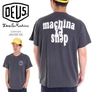 DEUS EX MACHINA Tシャツ メンズ MELTER TEE 2018春 DMP81067E ブラック S/M/L|3direct