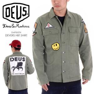 DEUS EX MACHINA シャツジャケット メンズ DEVERS HBT SHIRT 2018春 DMP85074 オリーブ S/M|3direct