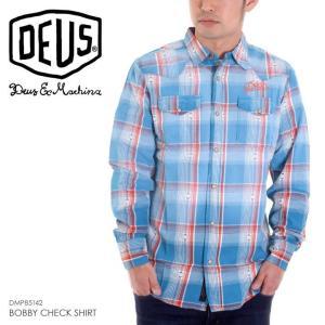 DEUS EX MACHINA シャツ メンズ BOBBY CHECK SHIRT 2018春 DMP85142 ブルー S/M|3direct