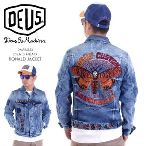 DEUS EX MACHINA ジャケット メンズ DEAD HEAD RONALD JACKET DMP86153 2018春 インディゴ/ブルー S/M|3direct