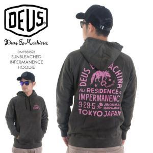 DEUS EX MACHINA パーカー メンズ SUNBLEACHED IMPERMANENCE HOODIE DMP88152B 2018春 ブラック S/M|3direct