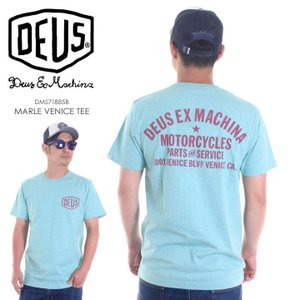 DEUS EX MACHINA Tシャツ メンズ MARLE VENICE TEE DMS71885B 2018春夏 ブルー S/M/L|3direct