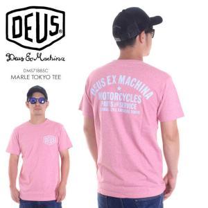 DEUS EX MACHINA Tシャツ メンズ MARLE TOKYO TEE DMS71885C 2018春夏 ピンク S/M/L|3direct