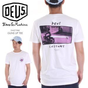 DEUS EX MACHINA Tシャツ メンズ GUNS UP TEE 2018春 DMS71968 ホワイト S/M/L|3direct