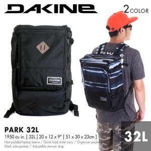 DAKINE リュック メンズ PARK 32L AI237024 AI237-024 2018春夏 ブラック/ボーダー 32L|3direct