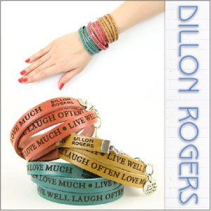 DILLON ROGERS / ディロン・ロジャース レザー ブレスレット WRAP AROUND LETHER BRACELETS (LIVE WELL)|3direct