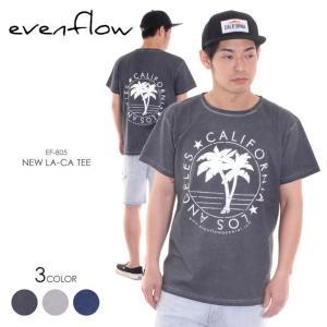 EVEN FLOW Tシャツ メンズ NEW LA-CA TEE EF-805 2018春 ブラック/ネイビー/グレー S/M/L|3direct