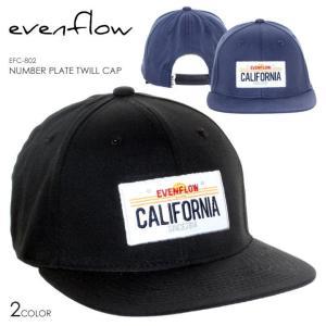 EVEN FLOW キャップ メンズ NUMBER PLATE TWILL CAP EFC-802 2018春 ブラック/ネイビー ワンサイズ|3direct