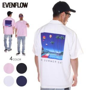 SALE セール EVENFLOW シャツ メンズ EVENFLOW x 永井 博 SUMMER SHIRTS - EFH-1001 2019春夏|3direct