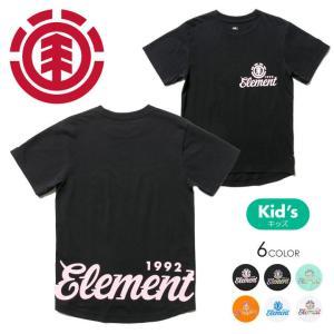 ELEMENT Tシャツ キッズ 1992 ROUND SS BOY AI025-301 2018春夏 ブラック/グリーン/オレンジ/ホワイト 130/140/150/160|3direct