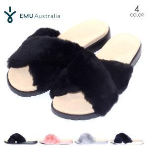EMU ファーサンダル レディース MAREEBA 2018春 ブラック/ネイビー/ピンク/グレー 23cm/24cm/25cm|3direct