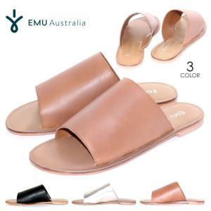 EMU レザーサンダル レディース MOLLY 2018春 ブラック/ブラウン/シルバー 23cm/24cm/25cm|3direct