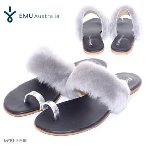 EMU ファーサンダル レディース MYRTLE FUR 2018春 グレー 23cm/24cm/25cm|3direct