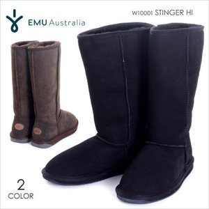 EMU ブーツ レディース STINGER HI W10001 2017秋冬 ブラック/ブラウン 22-25cm|3direct