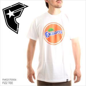Tシャツ メンズ FAMOUS FIZZ TEE - FM02170006 stars & straps フェイマス サンプリング パロディー プリント ストリート ホワイト 半袖 2017 17 春 新作|3direct