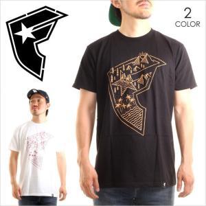 Tシャツ メンズ FAMOUS LANDSCAPE BOH - FM02170014 stars & straps フェイマス Fロゴ プリント ストリート ブラック ホワイト 半袖 S/S 2017 17 春 新作|3direct