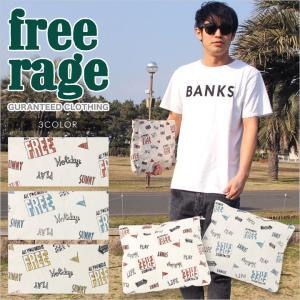 FREE RAGE フリーレイジ キャンバス クラッチバッグ