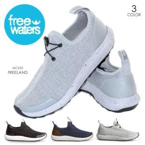 FREE WATERS シューズ メンズ FREELAND MC-033 2018春 ブラック/グレー 26cm/27cm/28cm|3direct