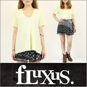 FLUXUS / フルクサス レディース Tシャツ FITTED U TEE|3direct