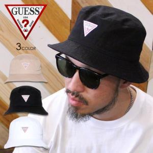 GUESS ゲス バケットハット メンズ レディース TWILL BUCKET HAT 2020春|3direct