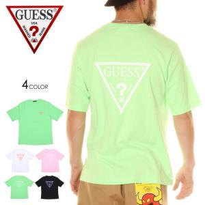 SALE セール GUESS ゲス Tシャツ メンズ COLORFUL TRIANNGLE LOGO TEE 2020年春夏|3direct
